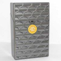 Clic Boxx 20er Deluxe Silber Grau No 1 Zigarettenbox
