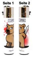 Clipper Feuerzeug Bär