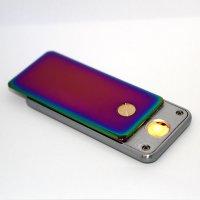 Cozy Feuerzeug USB Pull Down Regenbogen glänzend