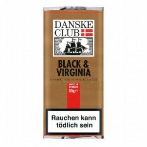 Danske Club Pfeifentabak Black & Virginia 50g Päckchen