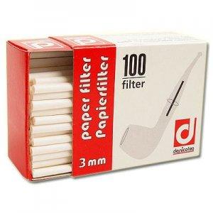Denicotea Pfeifenfilter 3mm Zubehör für die Pfeife