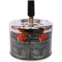 Drehascher - Jeans mit Rose