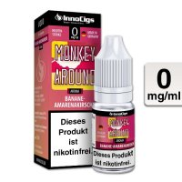 E-Liquid InnoCigs Monkey Around Banane-Amarenakirsche 0mg Nikotin