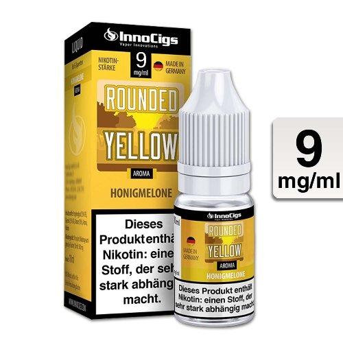 E-Liquid InnoCigs Rounded Yellow Honigmelone 9mg Nikotin