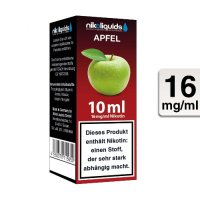 E-Liquid NIKOLIQUIDS Apfel 16mg Nikotin