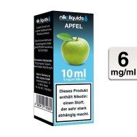 E-Liquid NIKOLIQUIDS Apfel 6 mg Nikotin
