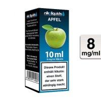 E-Liquid NIKOLIQUIDS Apfel 8 mg Nikotin