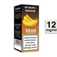 E-Liquid NIKOLIQUIDS Banane 12 mg Nikotin