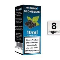 E-Liquid NIKOLIQUIDS Brombeere 8 mg