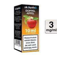E-Liquid NIKOLIQUIDS Doppel Apfel 3 mg Nikotin