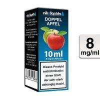 E-Liquid NIKOLIQUIDS Doppel Apfel 8 mg Nikotin