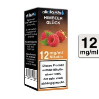 E-Liquid NIKOLIQUIDS Himbeer Glück 12 mg Nikotin
