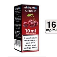 E-Liquid NIKOLIQUIDS Kirsche 16 mg Nikotin