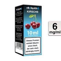 E-Liquid NIKOLIQUIDS Kirsche 6 mg Nikotin