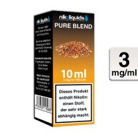 E-Liquid NIKOLIQUIDS Pure Blend 3 mg Nikotin