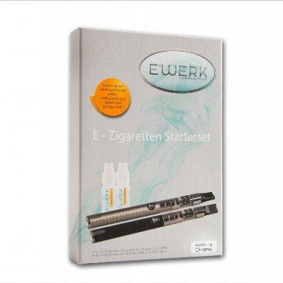 E WERK Starterset E-Zigarette JUSTFOG Silver + 2 Liquids 12mg