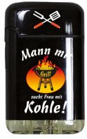 Easy Torch 8 Jet Feuerzeug Relief Born to Grill Mann mit Grill