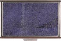 Edelstahl-Etui Echt Leder blau für 20 IQOS Heets