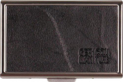 Edelstahl-Etui Echt Leder schwarz für 20 IQOS Heets