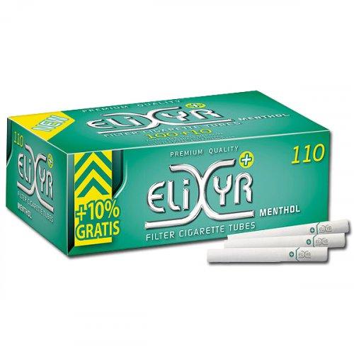 Elixyr+ Zigarettenhülsen Menthol 110 Stück