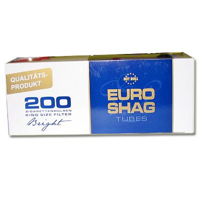 Euro Shag Zigarettenhülsen Bright 200 Stück