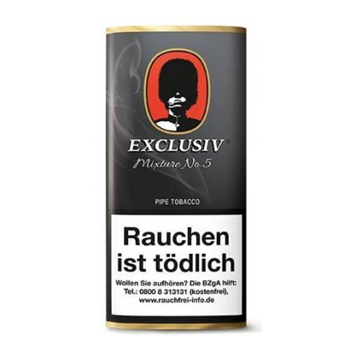 Exclusiv Mixture No 5 (Spezial mit Whisky) 50g Packung Pfeifentabak