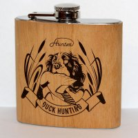 Flachmann Duck Hunting 6 Oz Stainless Steel