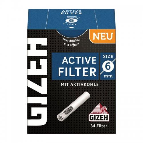 Gizeh Active Filter Slim 6mm Aktivkohle Zigarettenfilter