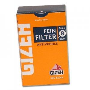 Gizeh Filter Aktivkohle 8mm Zigarettenfilter 100 Stück