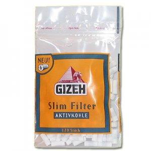 Gizeh Filter Slim 6mm Aktivkohle Zigarettenfilter 120 Stück