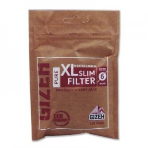 Gizeh Filter Slim Pure XL Zigarettenfilter 6mm 120 Stück
