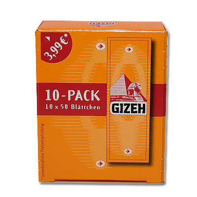 Gizeh Zigarettenpapier Gelb Original Sparpack 10x50 Blatt