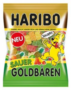 Haribo Goldbären Sauer 200g Beutel