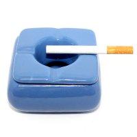 Keramik Aschenbecher mini  blau