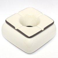 Keramik Aschenbecher weiß