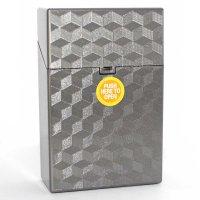 Clic Boxx 20er Deluxe Silber Grau Zigarettenbox