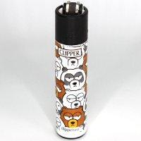 Clipper Feuerzeug Animal Squad 1v4 Bären