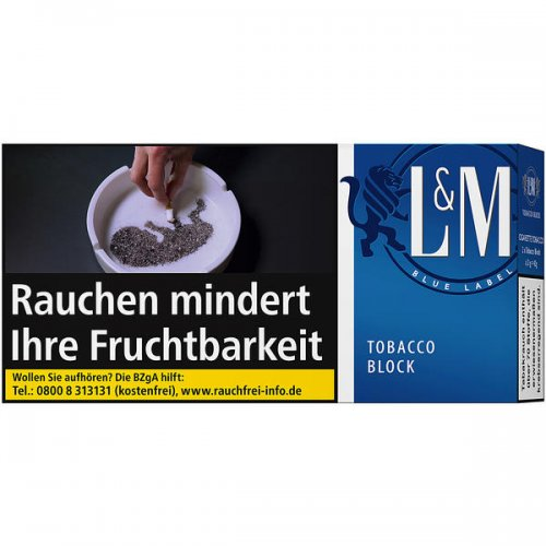 LM Tobacco Block Blue Label 42g Feinschnitt