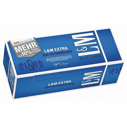 L&M Zigarettenhülsen Extra Blue Label 250 Stück