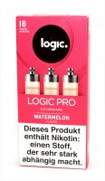 LOGIC PRO Caps Watermelon Liquid-Caps für E-Zigarette Logic Pro 18mg