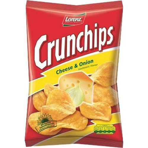 Lorenz Crunchips Cheese and Onion 175g Tüte