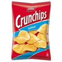 Lorenz Crunchips Salted 175g Tüte