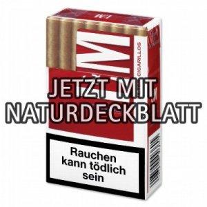 L&M Filterzigarillos Red mit Naturdeckblatt 17er