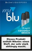 myblu Pods Coconut Breeze 18 mg 2er Pack