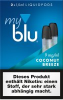 myblu Pods Coconut Breeze 9 mg 2er Pack