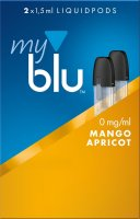 myblu Pods Mango Apricot 0 mg 2er Pack