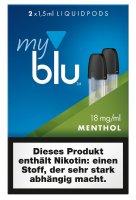 myblu Pods Menthol 18 mg 2er Pack
