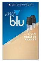 myblu Pods Tobacco Vanilla 0 mg 2er Pack