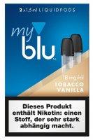 myblu Pods Tobacco Vanilla 18 mg 2er Pack