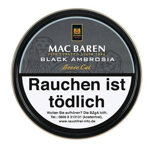 Mac Baren Pfeifentabak Black Ambrosia 100g Dose
